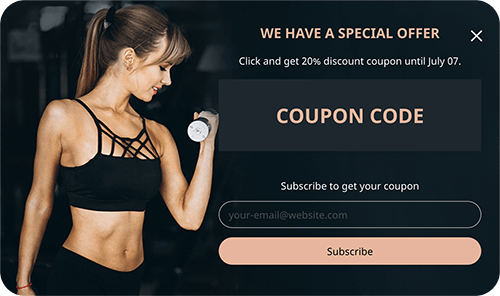 Newsletter Popup Gym theme