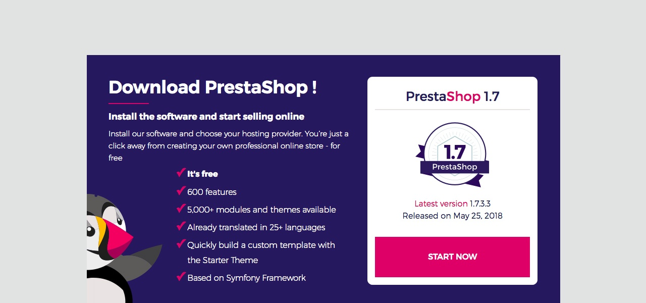 Download the PrestaShop package
