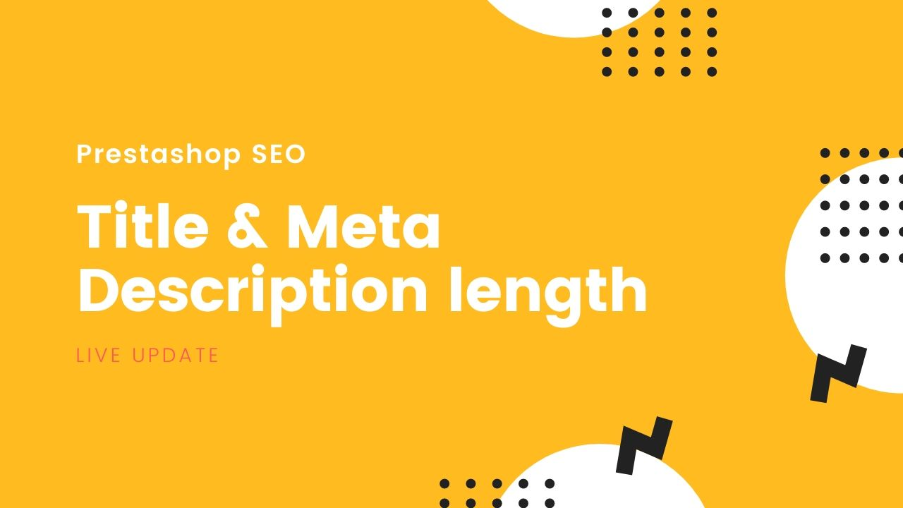 Prestashop title & meta description length: Live update