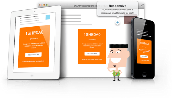 Premium and Responsive Prestashop Voucher after order email