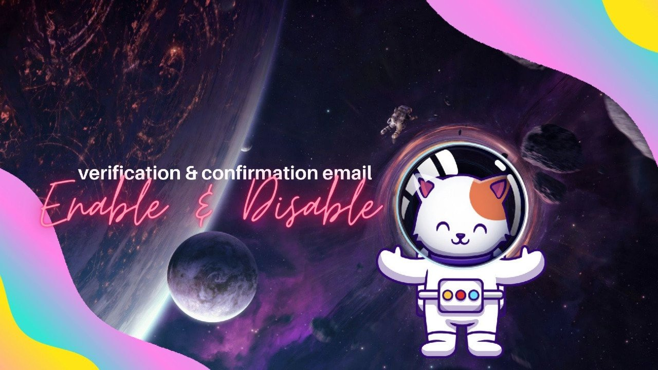 verification email & confirmation email